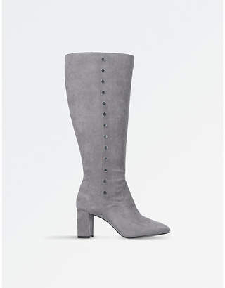 Nine West Ladies Grey Xois Knee-High Boots