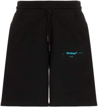 Off-White logo detail sweat shorts