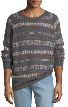 Peter Millar Men's Fair Isle Crewneck Sweater