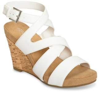 Aerosoles Silver Plush Wedge Sandal