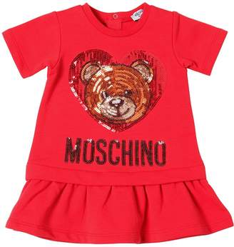 Moschino Sequins Embroidered Cotton Dress