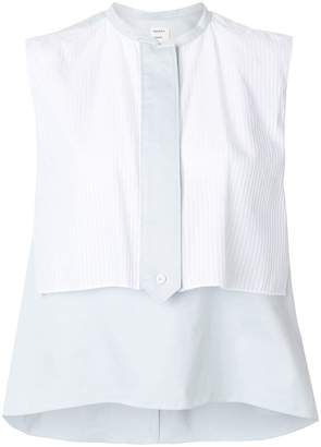 Maison Rabih Kayrouz flared sleeveless blouse
