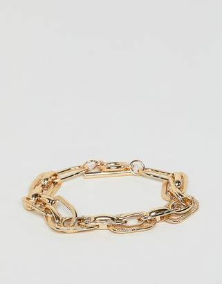 Warehouse chunky chain bracelet in gold