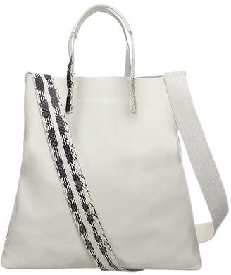 RK New York Snake & Leather Tote Bag