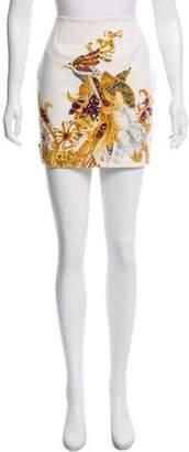 Edward Achour Printed Mini Skirt w/ Tags