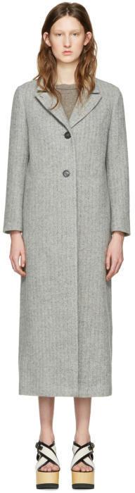 Isabel Marant Grey Long Duard K Coat