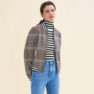 Maje Teddy-style checked jacket