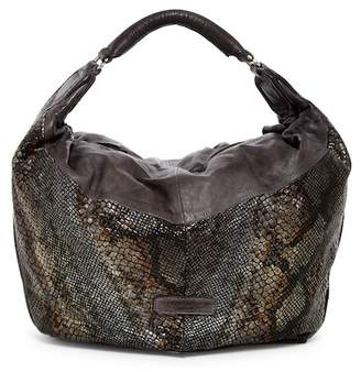 Liebeskind Berlin Tumba Oversized Snake Embossed Leather Hobo