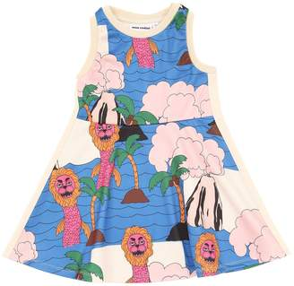 Mini Rodini Sea Monster Print Triacetate Dress