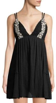 L-Space LSpace Eliana Embroidered Cotton Summer Dress