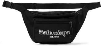Balenciaga Logo-Embroidered Canvas Belt Bag