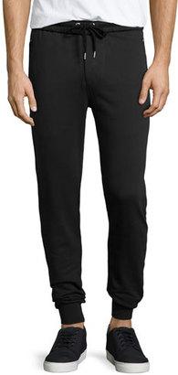 Burberry Haleford Knit Sweatpants, Black $295 thestylecure.com