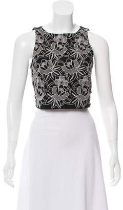 Tibi Embroidered Crop Top w/ Tags