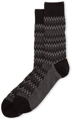 Missoni Fade Zigzag Crew Socks