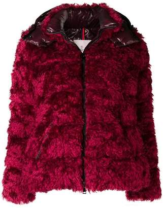 Moncler Badyp fur padded jacket