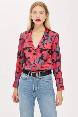 Topshop Petite Floral PJ Style Shirt
