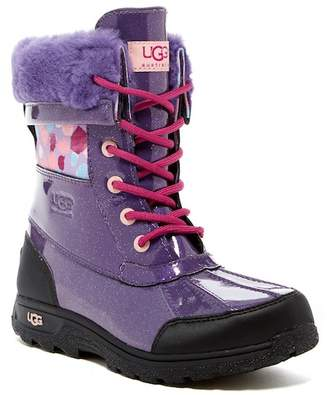 UGG Butte II Waterproof Genuine Shearling Lined Leather Boot (Little Kid & Big Kid)