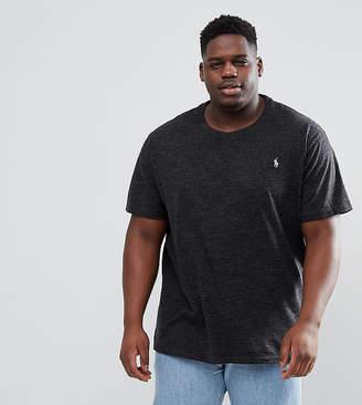Polo Ralph Lauren Big & Tall T-Shirt Polo Player In Black Marl