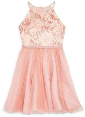 Us Angels Girls' Sequin-Embellished Tutu Dress - Big Kid