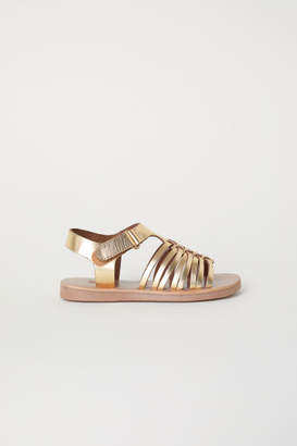 H&M Leather Sandals - Gold