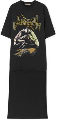 Christopher Kane Oversized Printed Cotton-jersey T-shirt - Black