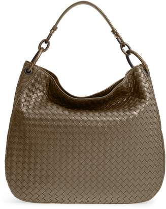 Bottega Veneta Large Loop Woven Leather Hobo