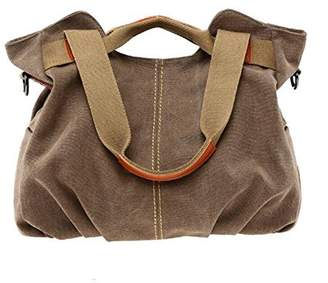 Pahajim Women's Casual Vintage Hobo Canvas Purse Top Handle satchel Shoulder Tote Shopper