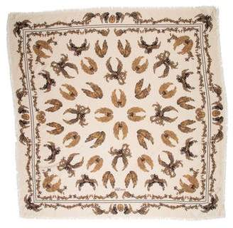 Alexander McQueen Cashmere and Silk Printed Scarf