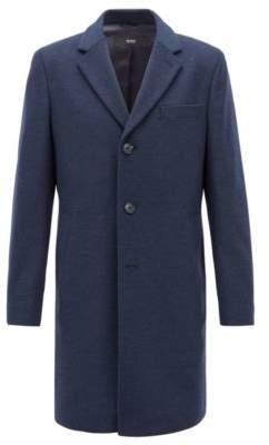 BOSS Hugo Formal coat in wool & cashmere notch lapels 40R Open Blue