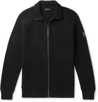 Belstaff Slim-Fit Ribbed Cotton Zip-Up Cardigan - Men - Black