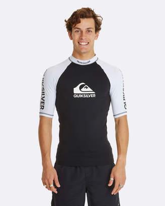 Quiksilver Mens On Tour Short Sleeve UPF 50 Rash Vest