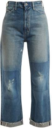 Chimala Straight-leg cropped jeans