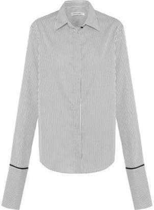 Anna Quan Anne Shirt Black Stripe With Black Trim