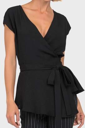 Joseph Ribkoff Black Wrap Top