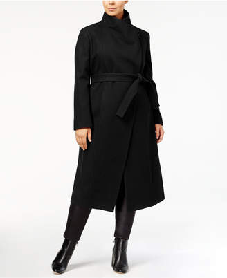 Kenneth Cole Plus Size Belted Maxi Coat