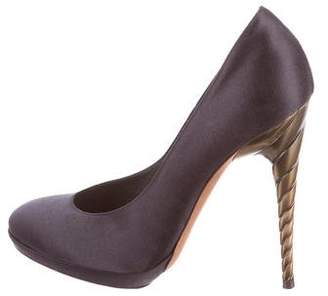 Nina Ricci Satin Sculpted Pumps