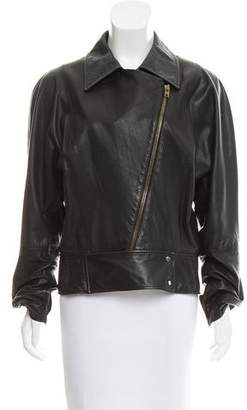 Donna Karan Leather Dolman Jacket