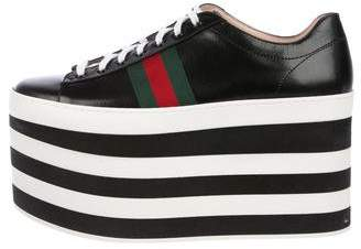 e19730087b4 Gucci Peggy Leather Platform Sneakers