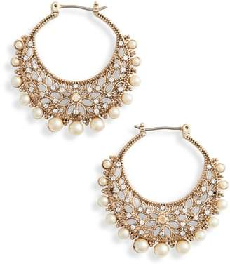 Marchesa Filigree Click Hoop Earrings