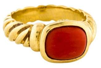 David Yurman 18K Coral Noblesse Ring