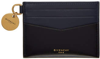 Givenchy Black and Navy Edge Card Holder