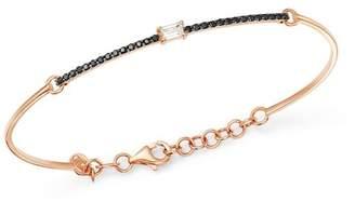 Black Diamond OWN YOUR STORY 14K Rose Gold Linear White Baguette & Bangle Bracelet