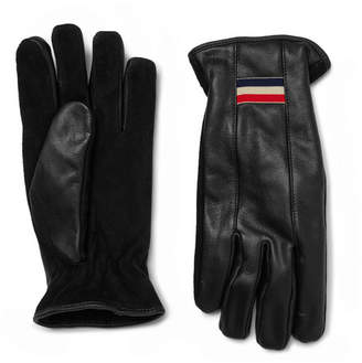 Moncler Suede and Leather Gloves - Black
