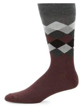 Saks Fifth Avenue Diamond Fade Crew Socks