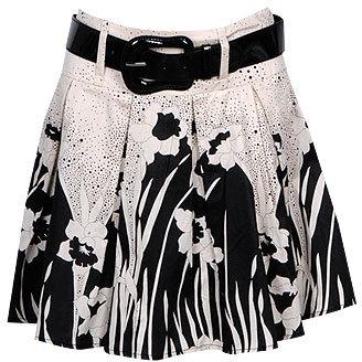 BW Floral Skirt