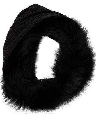 Surell Fox Fur-Trimmed Infinity Scarf