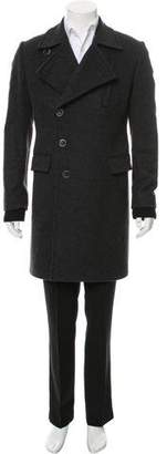 Givenchy Double-Breasted Virgin Wool Overcoat