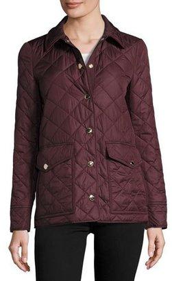 Burberry Westbridge Quilted Jacket, Crimson