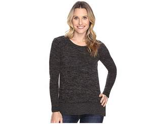 Mod-o-doc Heather Sweater w/ Rib Long Sleeve Pullover Women's Clothing