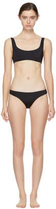 Solid and Striped Black The Elle Bikini